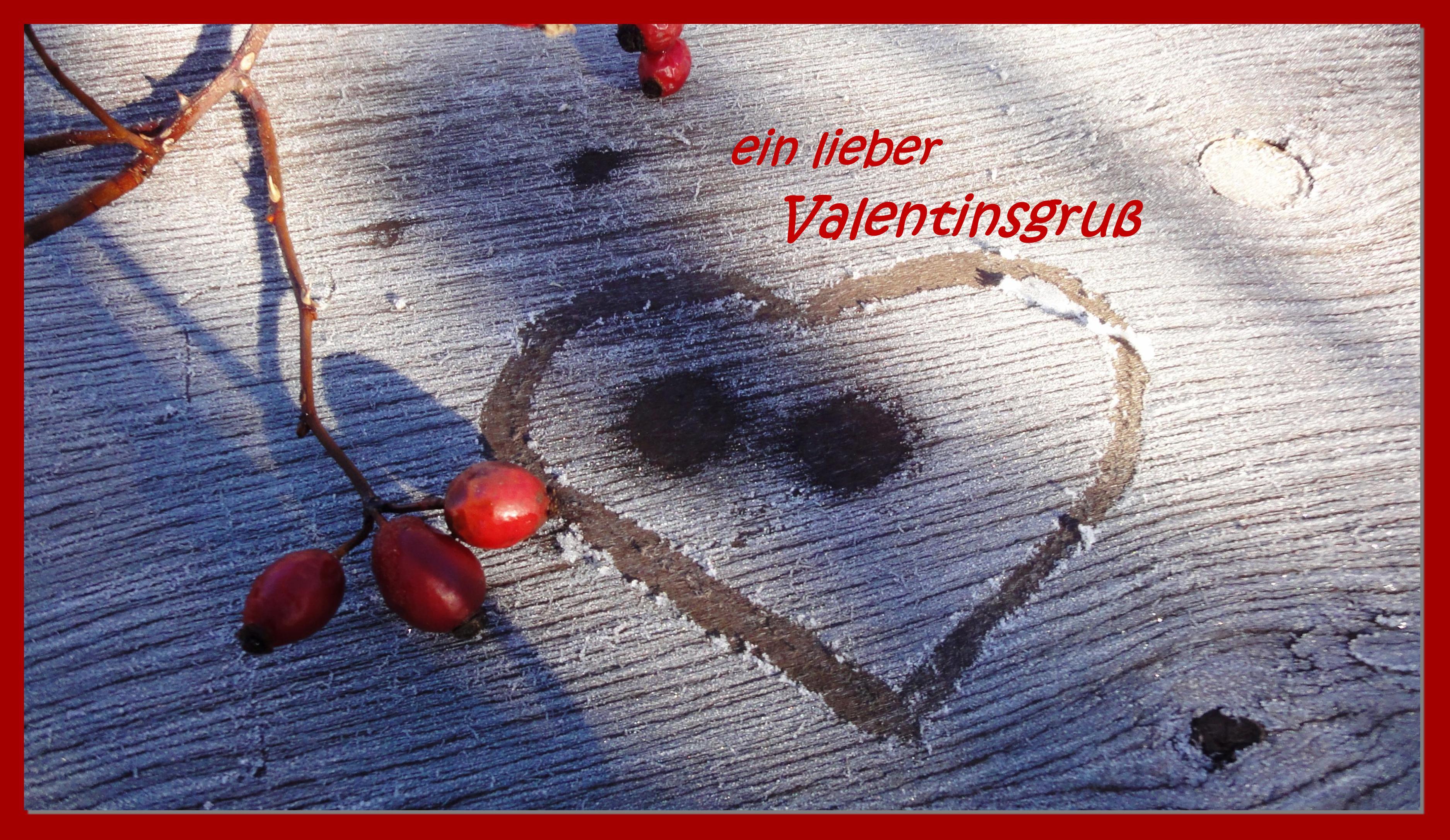 Schön Wünsche Allen Meinen Lesern Eine Liebevollen Valentinstag!