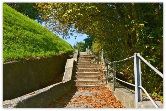 Treppe zum Schloss