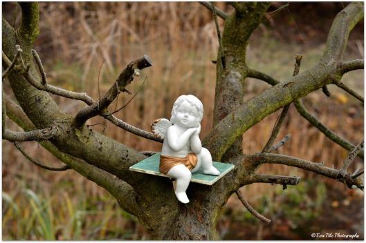 Engel auf Baum