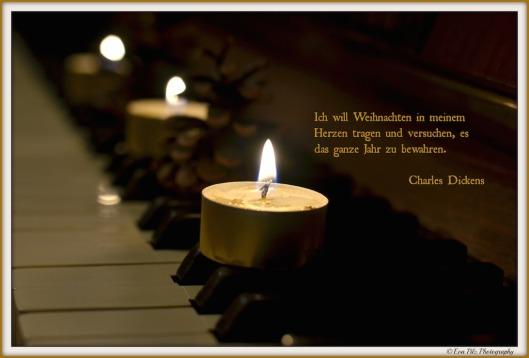 Weihnachtskarte Kerzen