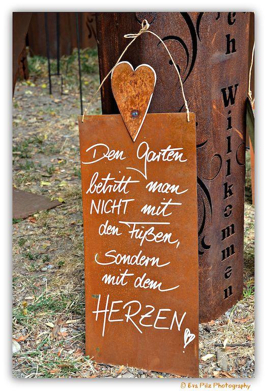 Gartenspruch mit Herz