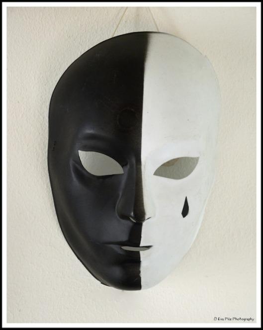 schwarz-weiß-Maske