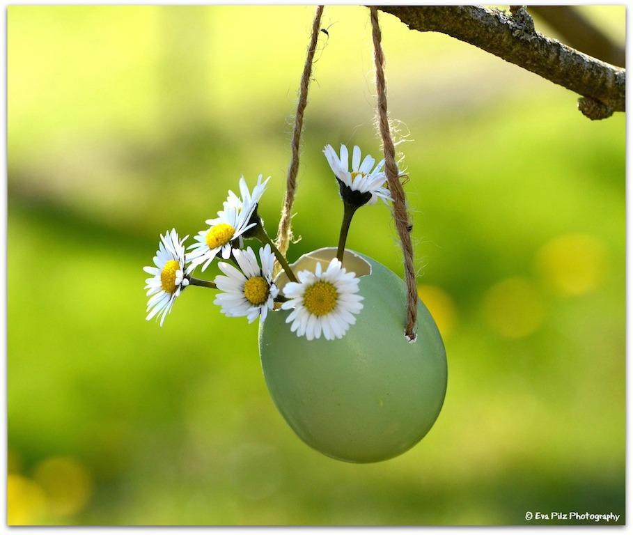 Osterei mit Blumen
