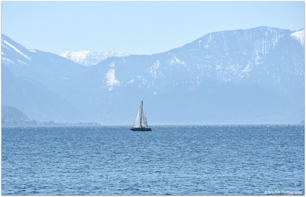 Attersee mit Segelboot1