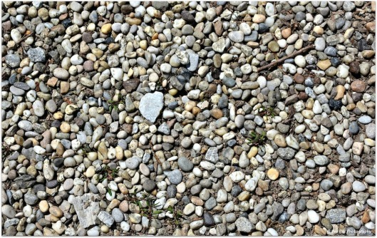 Kieselsteine mit Herz